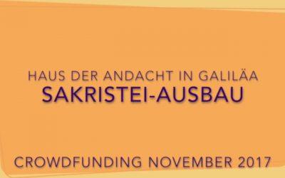 Spendenaufruf: Andachtshaus Sakristei-Ausbau